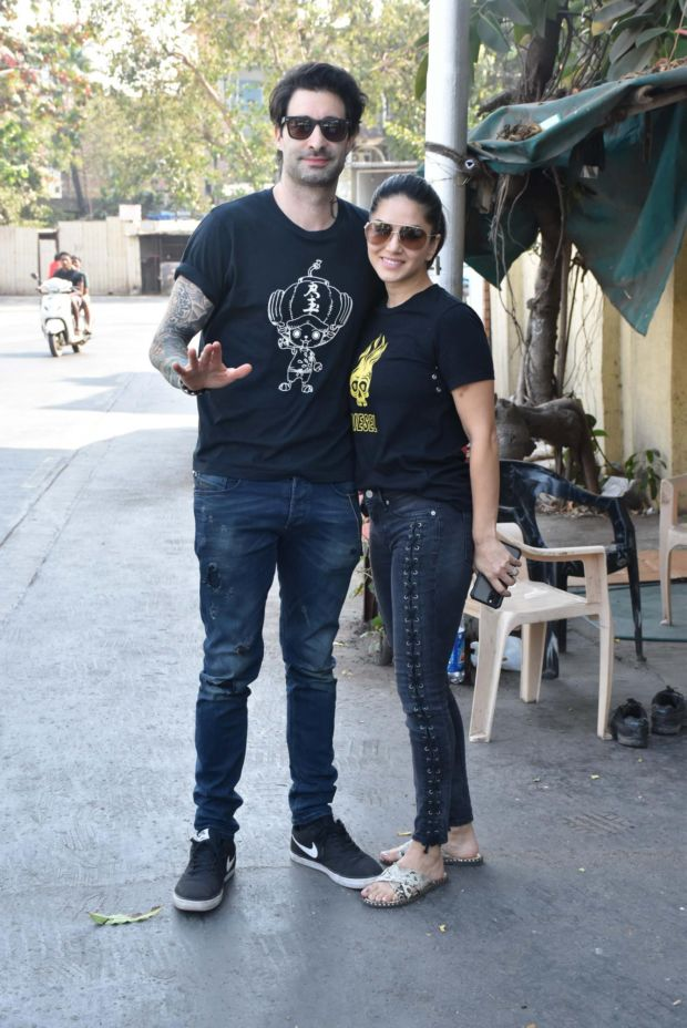 Sunny Leone Spotted with Her Husband Daniel Weber