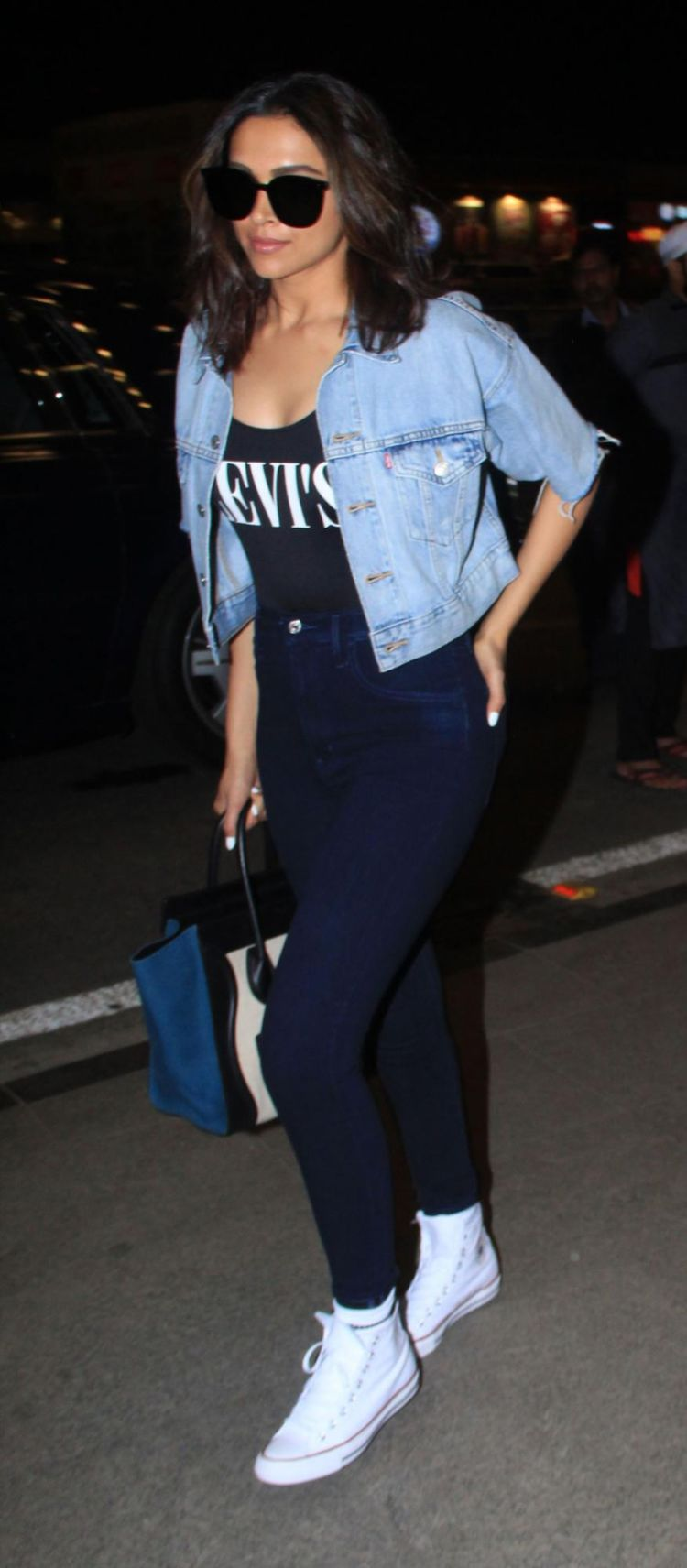 Deepika Padukone Sporting A Casual Chic Look At The Airport