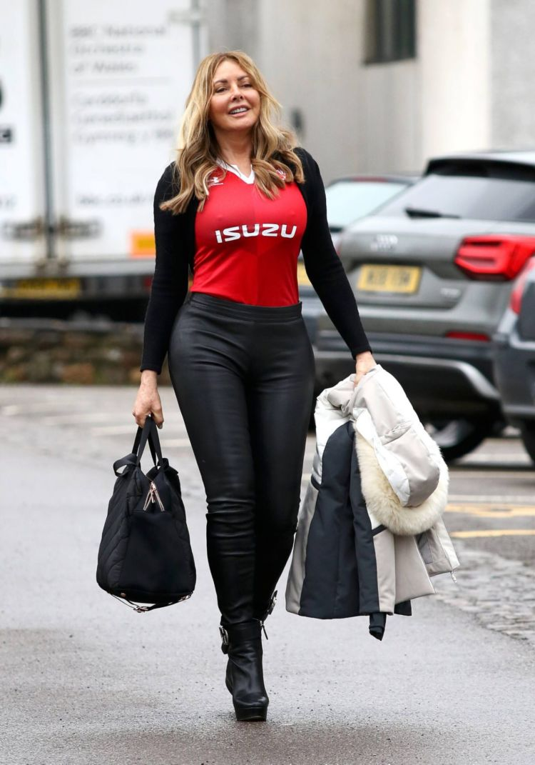 Carol Vorderman Spotted At The BBC Studios In Llandaff