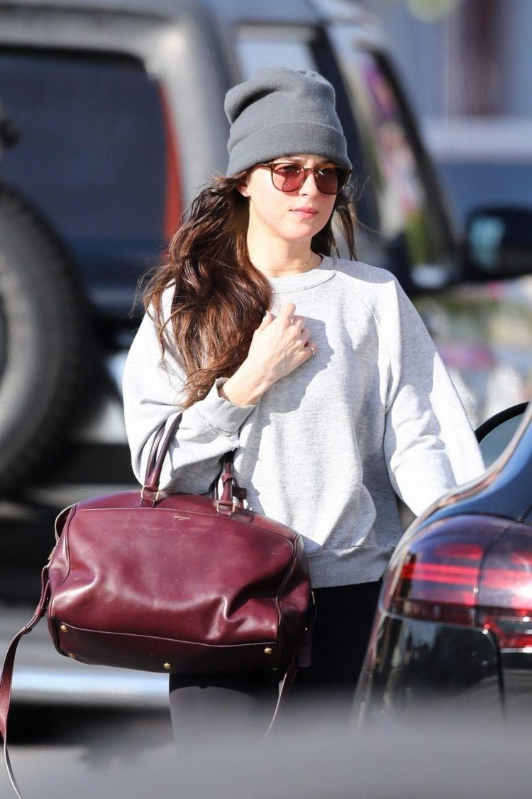 Dakota Johnson Candids While Leaving A Yoga Class In LA