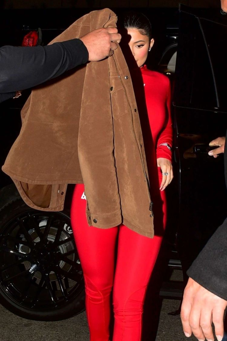 Kylie Jenner Candids In Red At The Nice Guy In West Hollywood