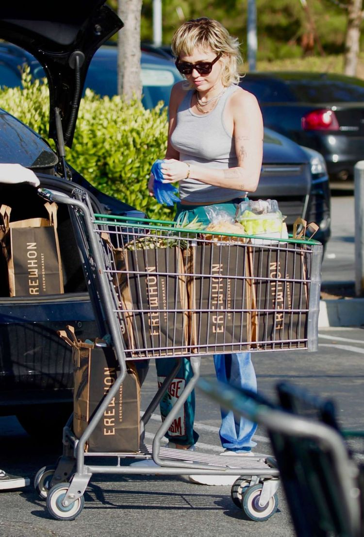 Miley Cyrus Spotted Out Shopping In Los Angeles