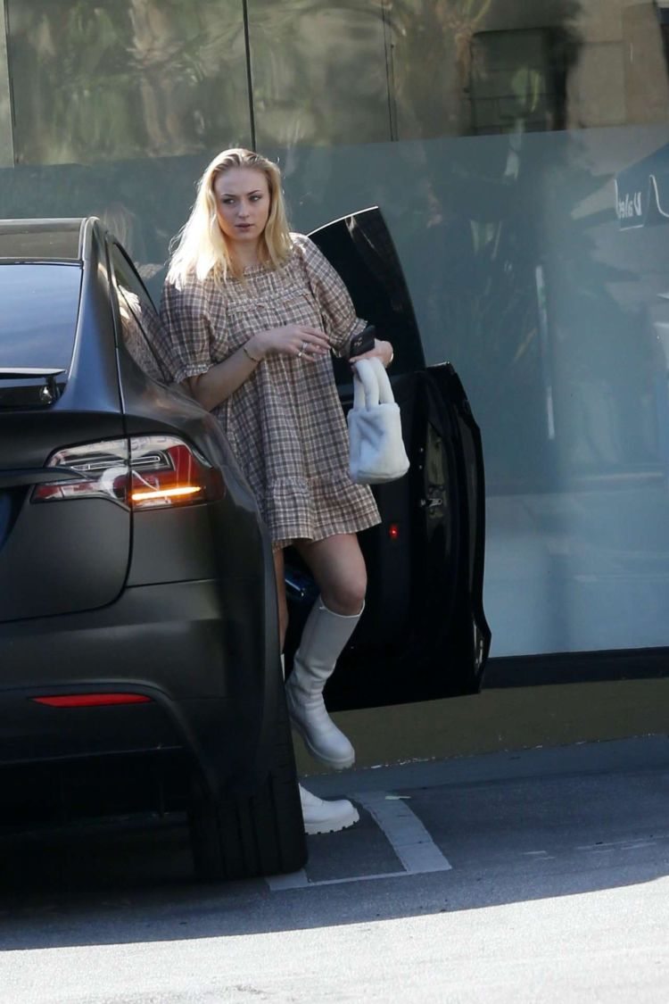 Sophie Turner Spotted In Frock Out In Los Angeles