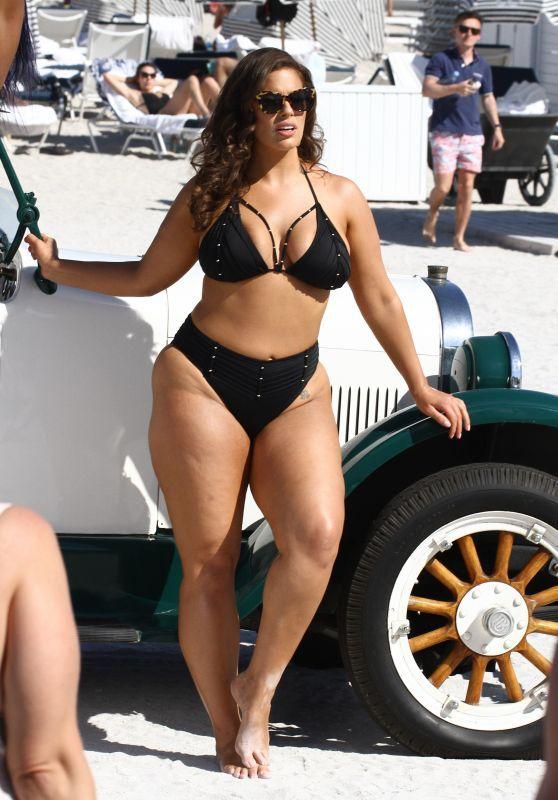 Ashley Graham's Recent Bikini Photoshoot On The Miami Beach
