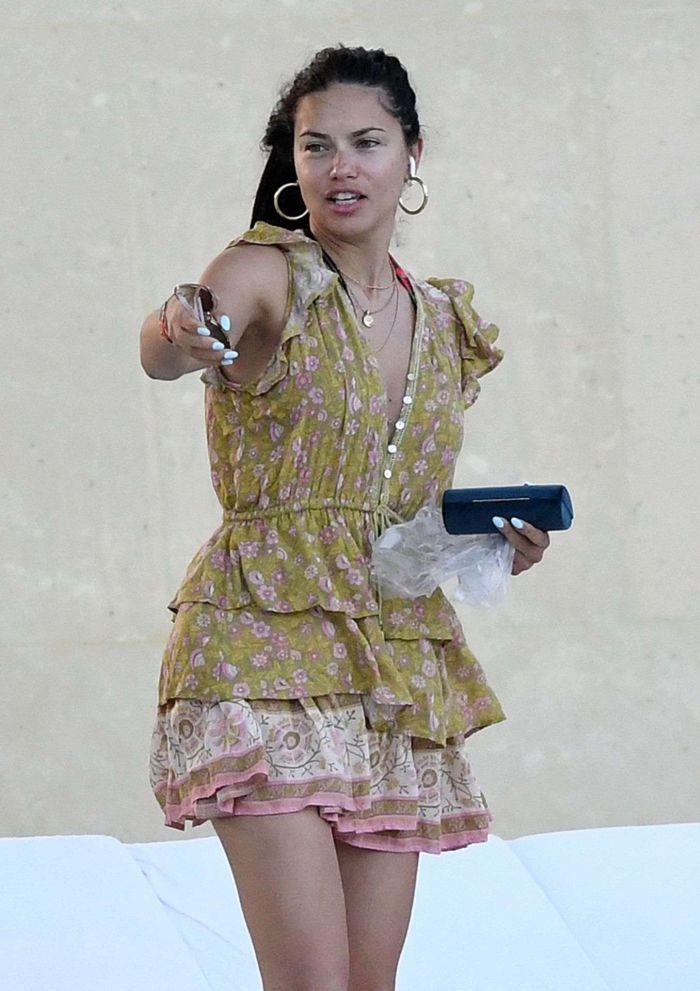 Adriana Lima On A Bikini Vacation At A Pool In Miami