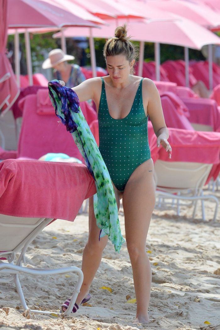 Rhea Durham's Swimsuit Candids On The Beach In Barbados