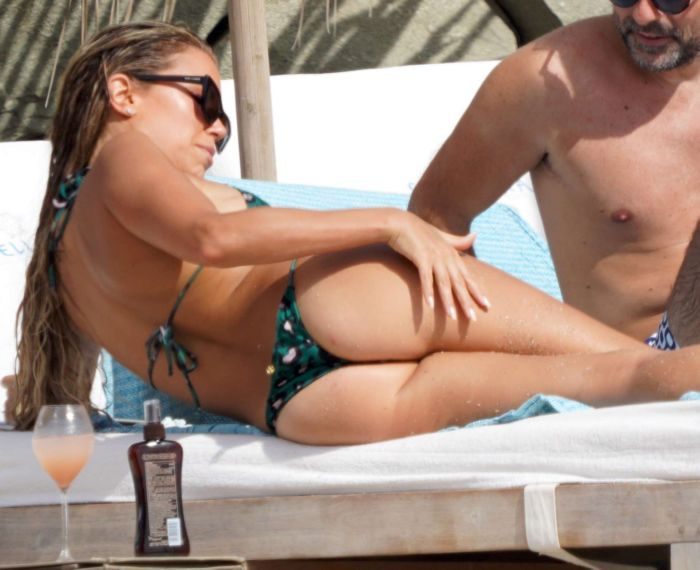 Sylvie Meis Vacationing In A Bikini On The Beach In Saint-Barthelemy